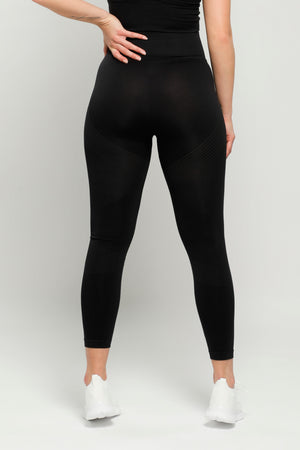 Black Reflex High Waisted Leggings