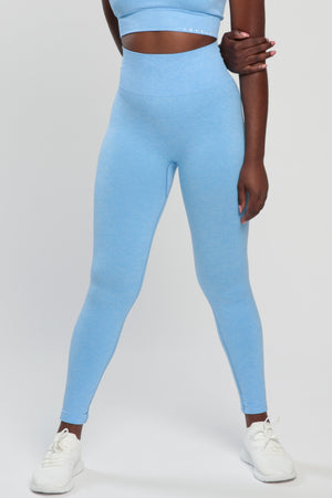 Blue Blessed High Waisted Leggings