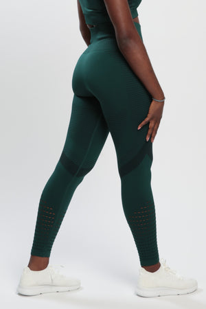 Dark Green Effect High Waisted Leggings