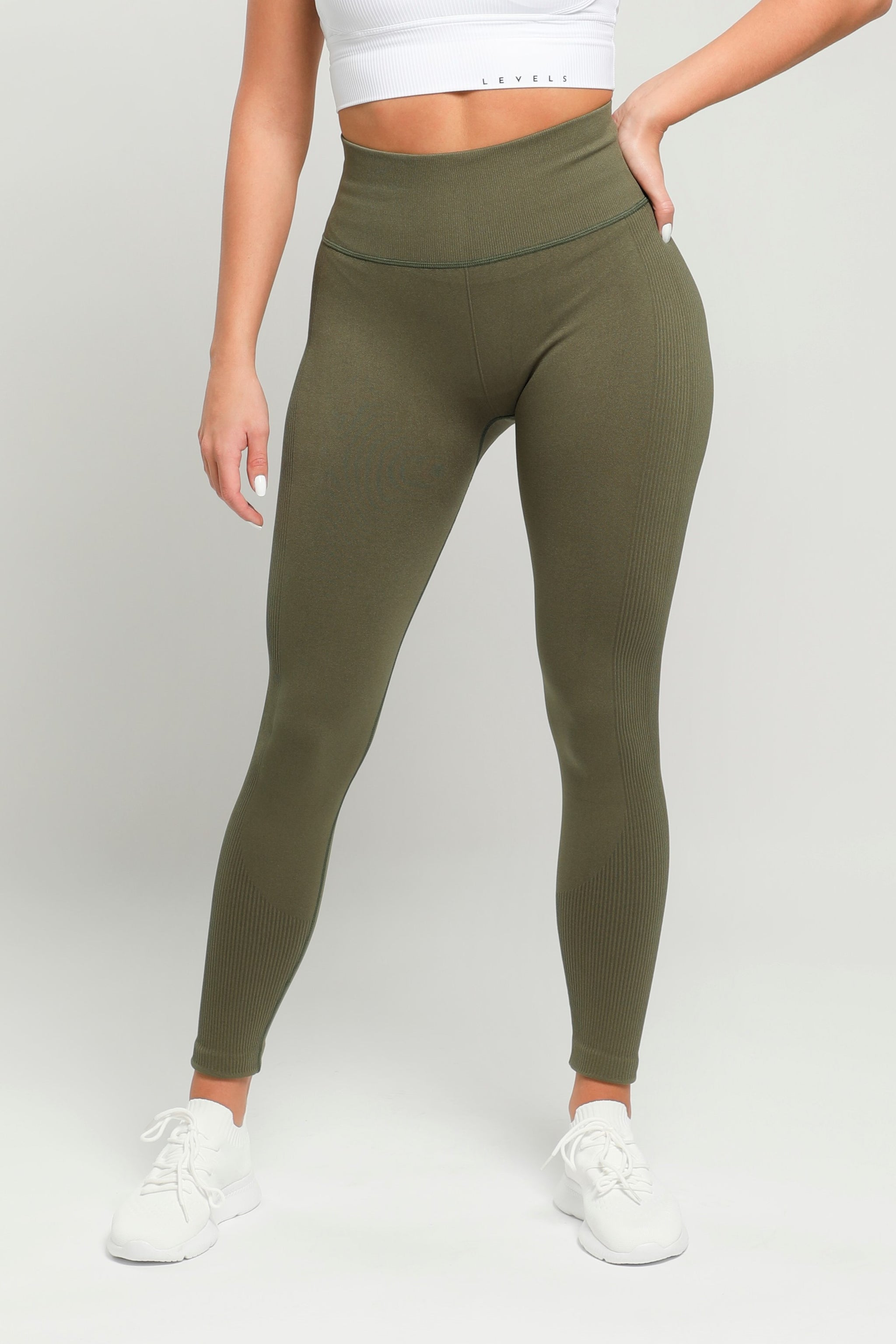 Green Energy High Waisted Leggings