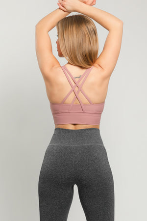 Dark Violet Energy Sports Bra