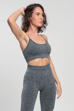 Gray Blessed Sports Bra