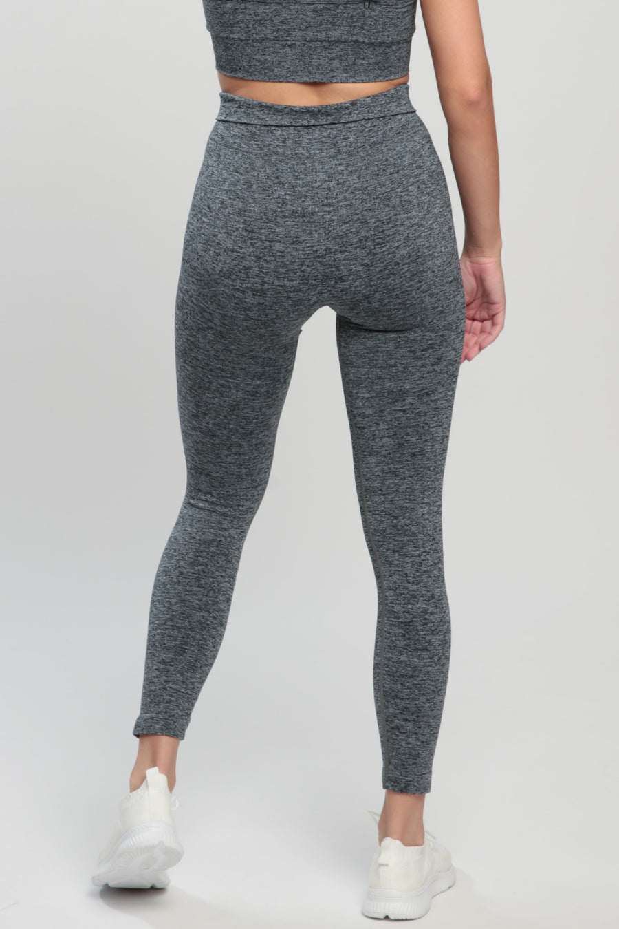 Gray Blessed High Waisted Leggings