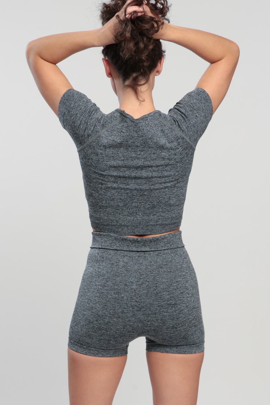 Gray Blessed Crop Top