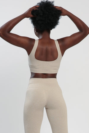 Khaki Lounge Sports Bra