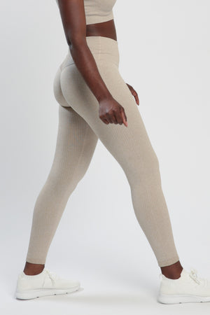 Khaki Lounge High Waisted Leggings