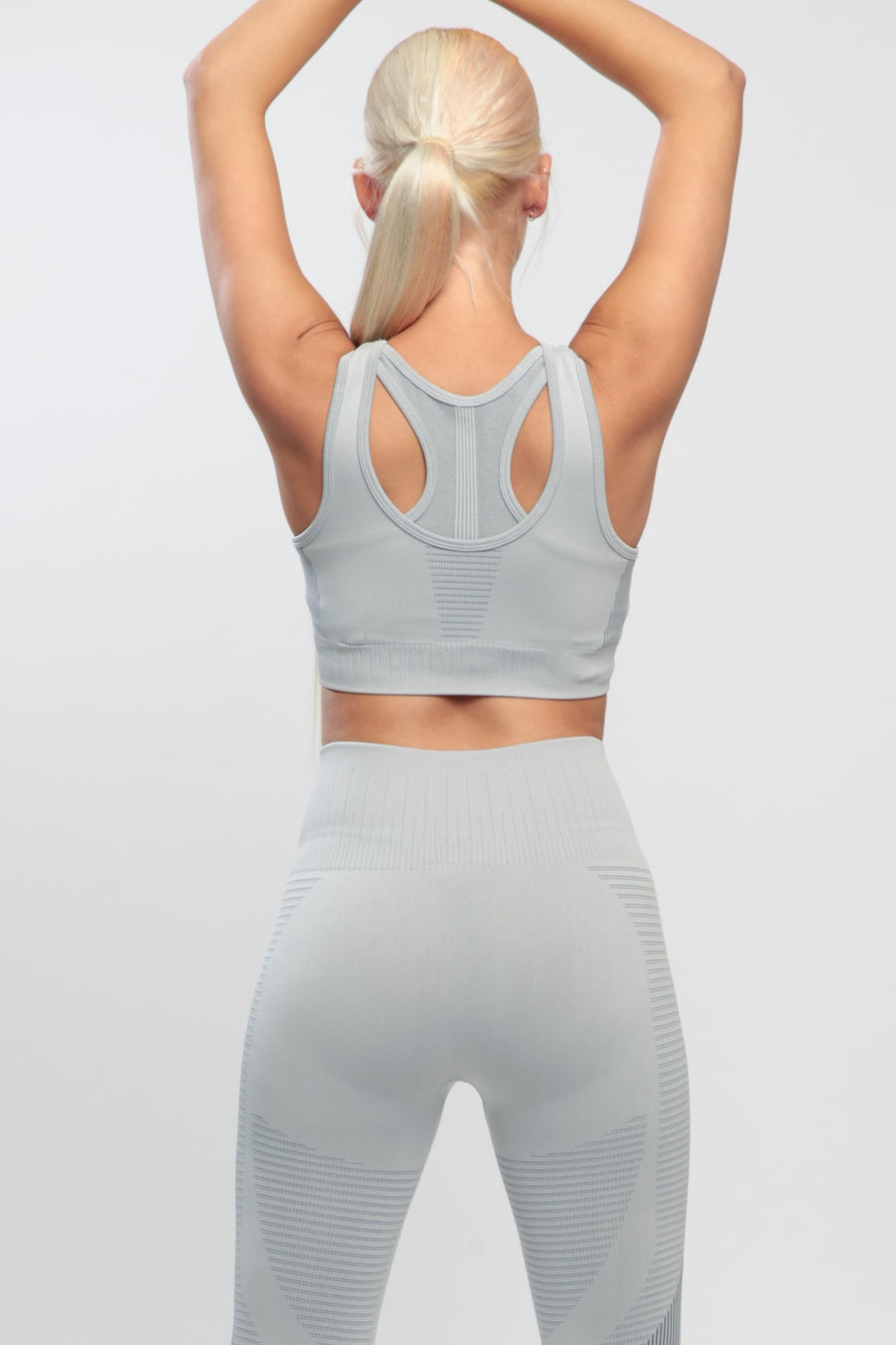Light Gray Effect Sports Bra
