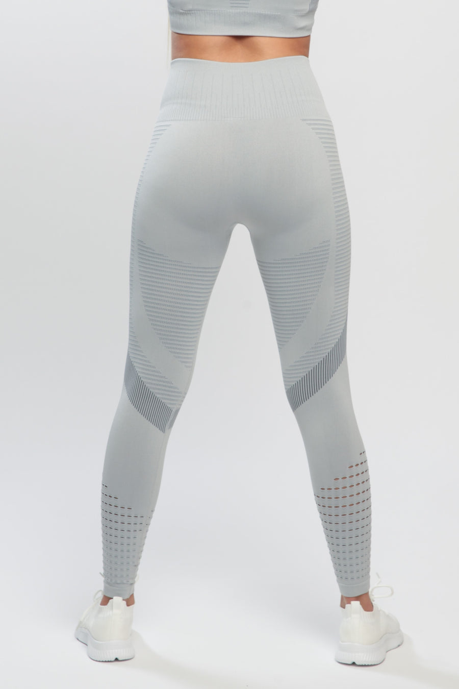 Light Gray Effect High Waisted Leggings
