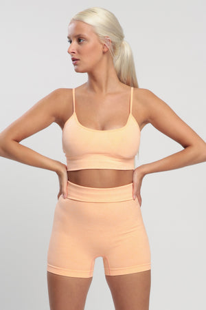 Light Rose Blessed Sports Bra