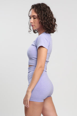 Light Violet Blessed Crop Top