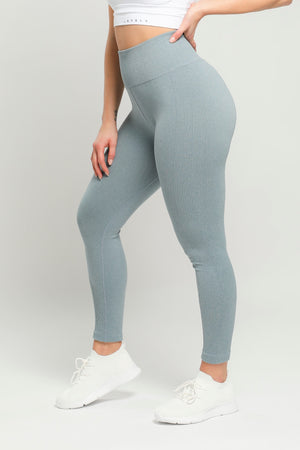 Light Blue Energy High Waisted Leggings