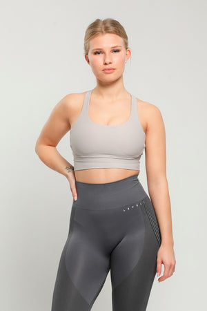 Light Gray Energy Sports Bra