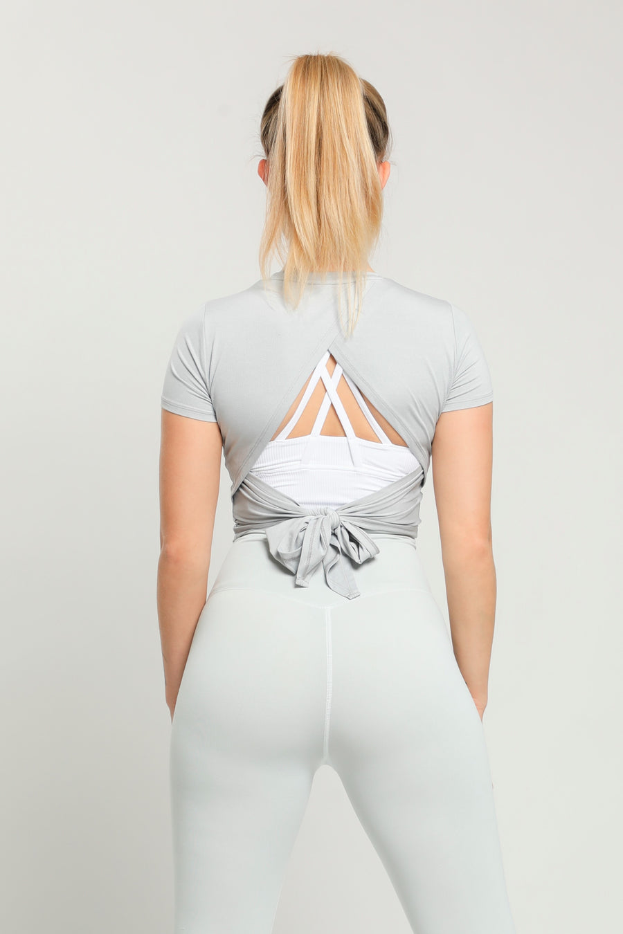 Light Gray Flow Lightweight Top