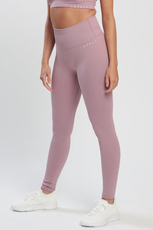 Mauve Lounge High Waisted Leggings