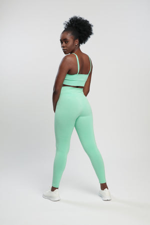 Mint Green Blessed Sports Bra