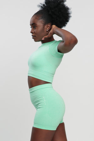 Mint Green Blessed Crop Top