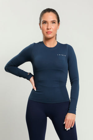 Navy Flex Long Sleeve