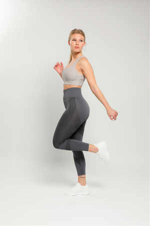 Silver Reflex High Waisted Leggings