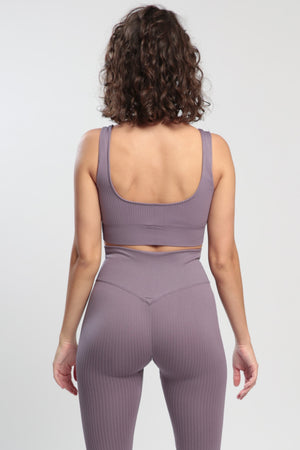 Taupe Lounge Sports Bra