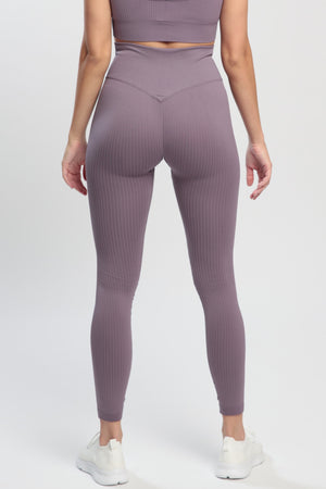 Taupe Lounge High Waisted Leggings