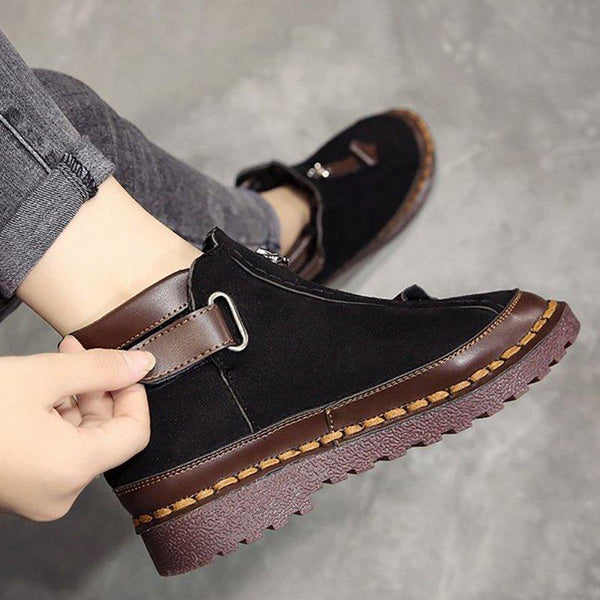 Shoes - Women's New Style Chelsea Platform Flat Bottom Martin Ankle Boots
