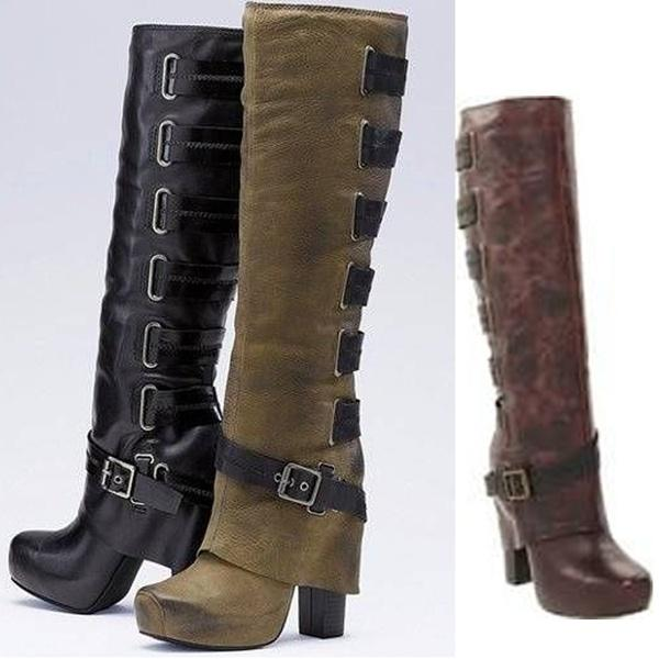Shoes - Women's Fashion Bandage Jackboots(Buy 2 Got 5% off, 3 Got 10% off Now)