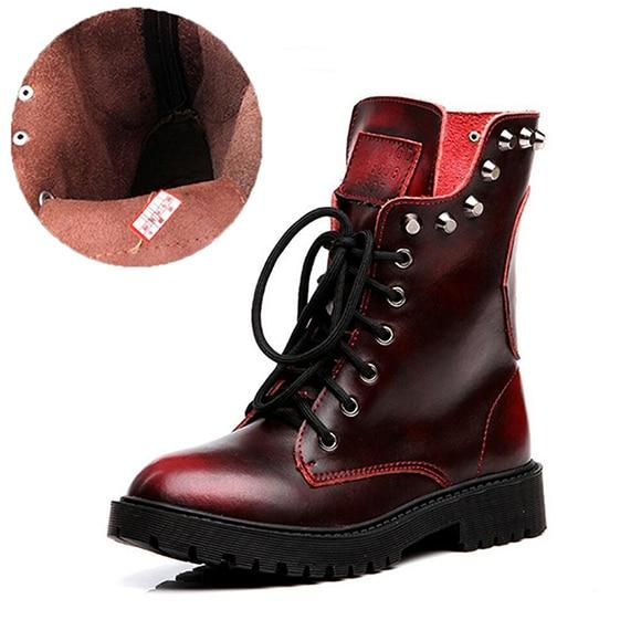 Women Shoes - 2018 Genuine Leather Women Boots