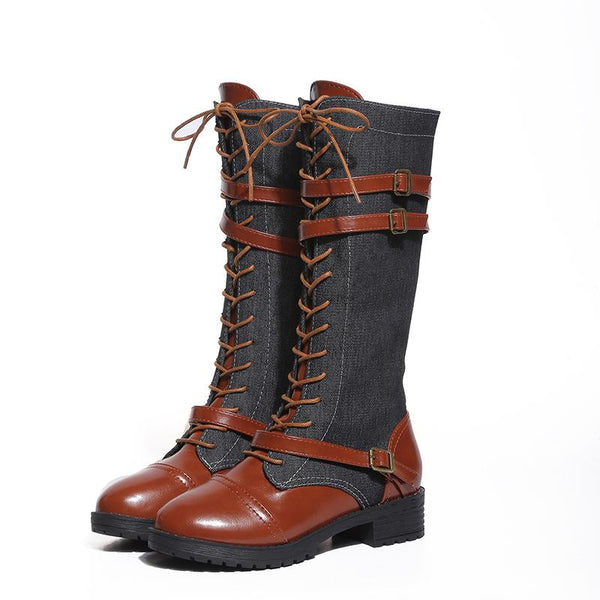 Shoes - 2019 New Round Head Buckle Woman Boots