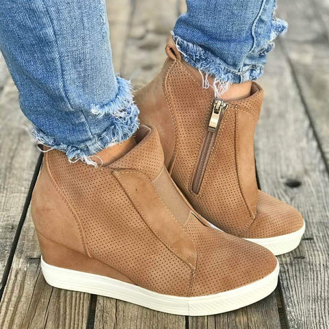 Shoes - Fashion Women's Autumn Winter Wedge Sneakers