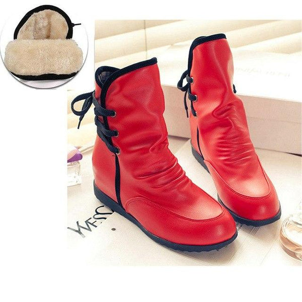 Winter Spring Fashion Lace-up Comfort Martin Boots