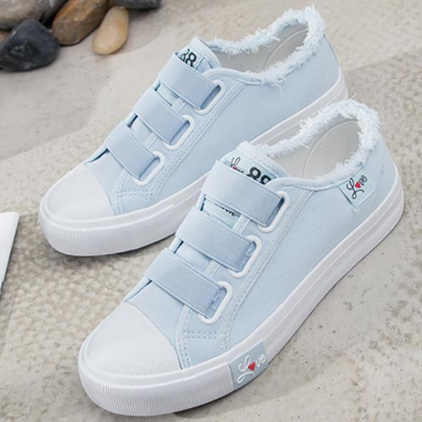 2018 Flat Platform Canvas Shoes