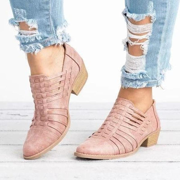 2018 Autumn Hollow Out Zipper Comfort Shoes(Buy 1 for 5% off! Buy 2 for 10% off!)