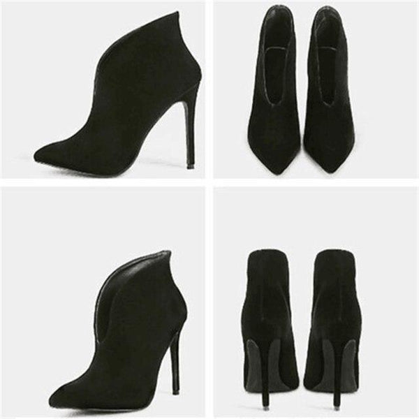 Women Shoes - Fashion Solid Pointed Toe Thin High Heels Shoes