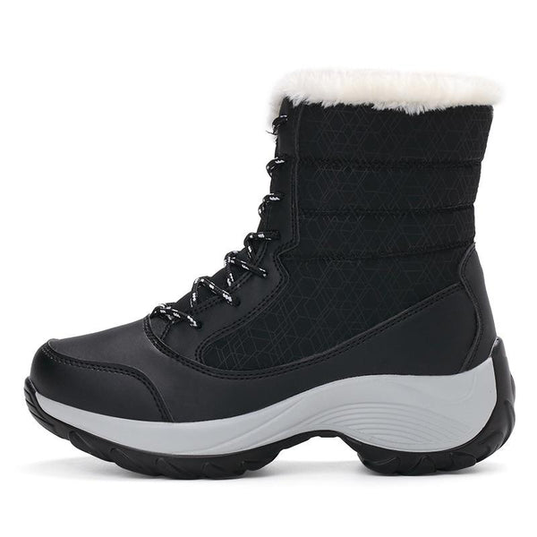 Women's Shoes - Winter Non-slip Waterproof Platform Fur Boots