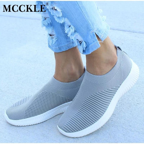 Women Shoes - Plus Size Women Casual Knitting Sock Sneakers