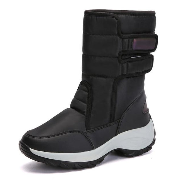 Ladies Winter Warm High Top Wedges Snow Boots