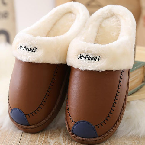 Couples Non-slip Casual Warm Waterproof Slippers