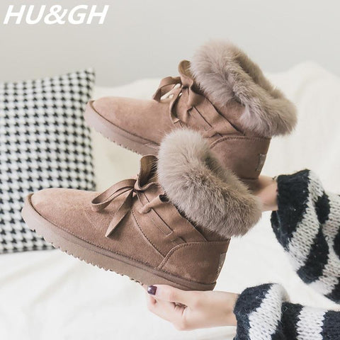 Boot - Plush Faux Fur Australia Ankle Snow Boots