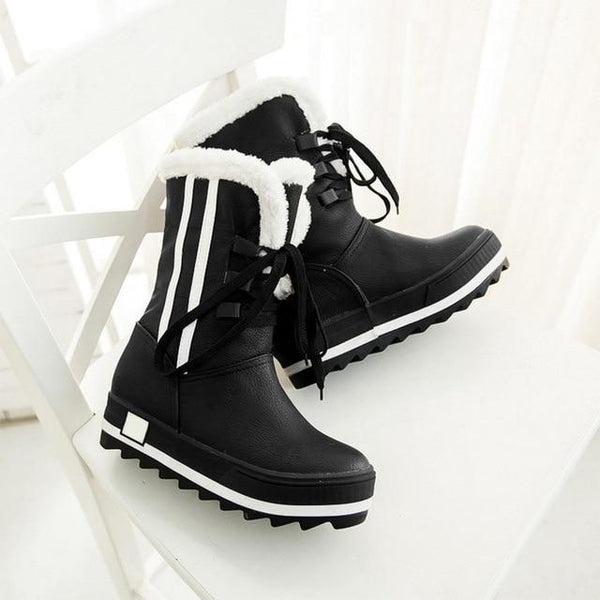 Women Winter Warm Plush Platform Snow Boots
