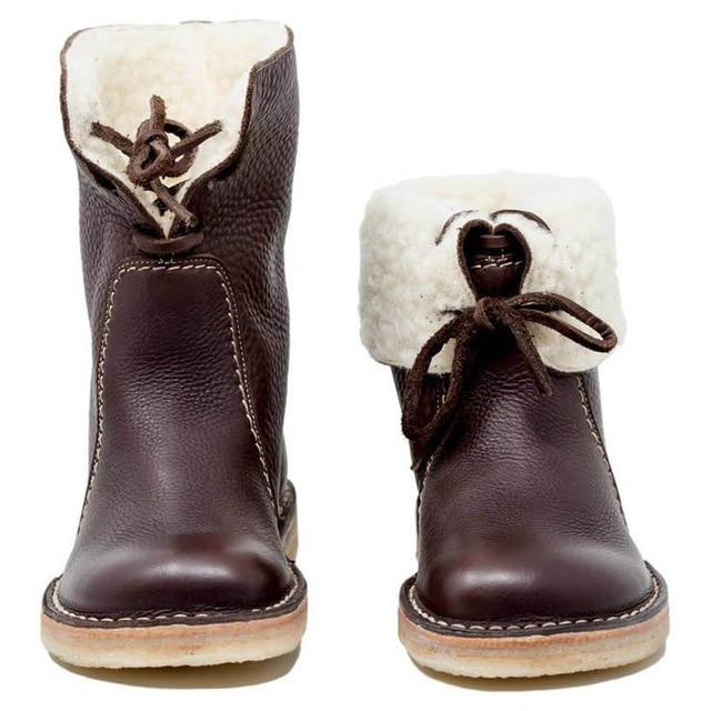 2019 New Fashion Winter Warm Plush Ankle Boots
