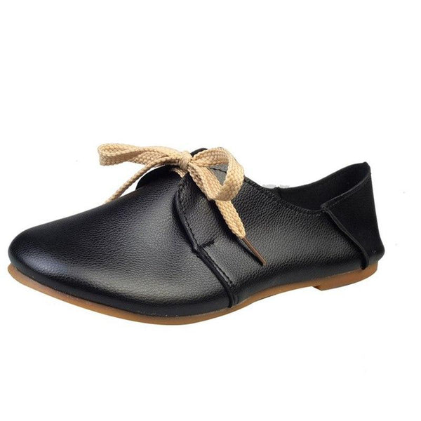 Women Retro Leather Fashion Flats