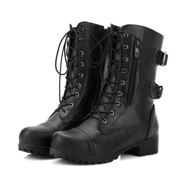 Women's Shoes - New Arrival Mid Calf Fashion Leather Pocket Boots