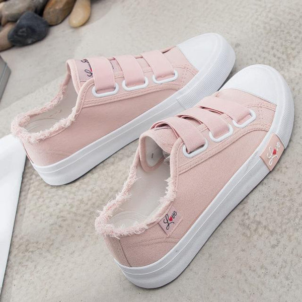 women's Breathable Canvas Fabric Sneakers flats