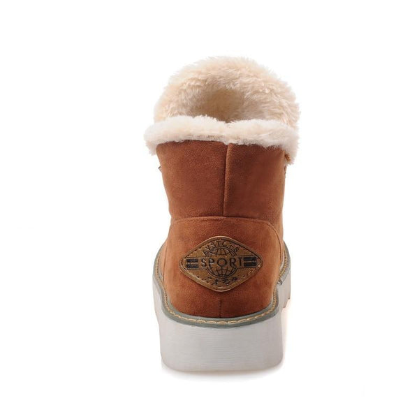 Casual Non-Slip Warm Fur Women Snow Boots
