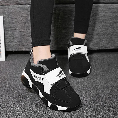 New Fashion Winter Plush Warm Comfort Casual Sneakers