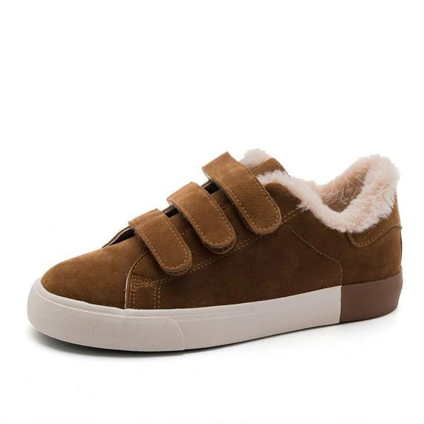 Women Artificial Suede Snow Sneakers Casual Shoes
