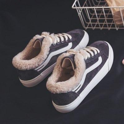 Women's Shoes - Fur Lined Casual Comfort Winter Canvas Shoes