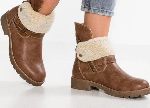 Shoes - Winter Pu Leather  Women Ankle Boots