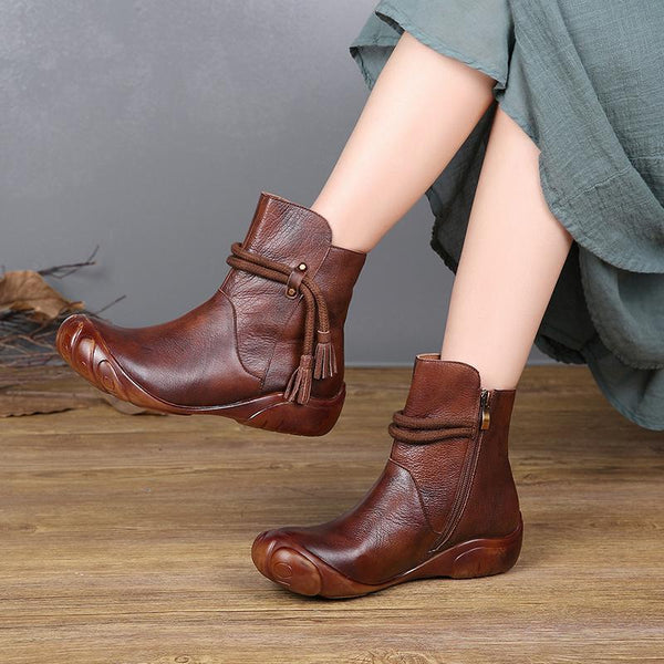 Boot - Women's Retro Hand Polished Soft Leather Boots