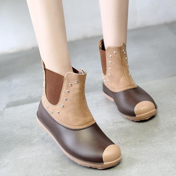 Women Shoes - Fashion Warm Rainboots Waterproof Water Shoes